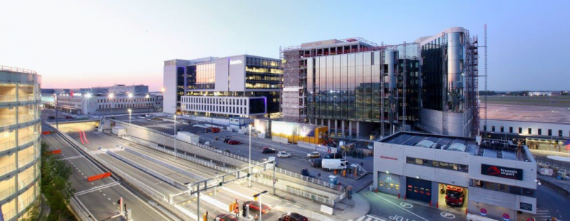 The offices of redevco and etex move into the passport building at brussels airport - Brussels airlines head office ...