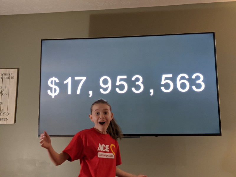 2020 Ace All-Star Avery shares the Ace Foundation's fundraising results for CMN Hospitals