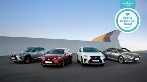 "LEXUS GIVEN ""MOST RELIABLE BRAND"" STATUS BY THE NETHERLANDS CONSUMER ASSOCIATION"