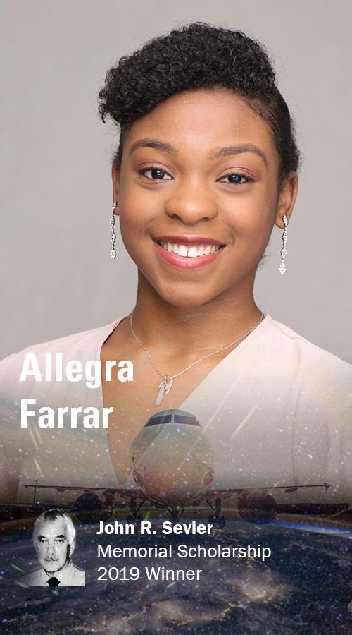Allegra Farrar, 2019 John R. Sevier Memorial Scholarship awardee