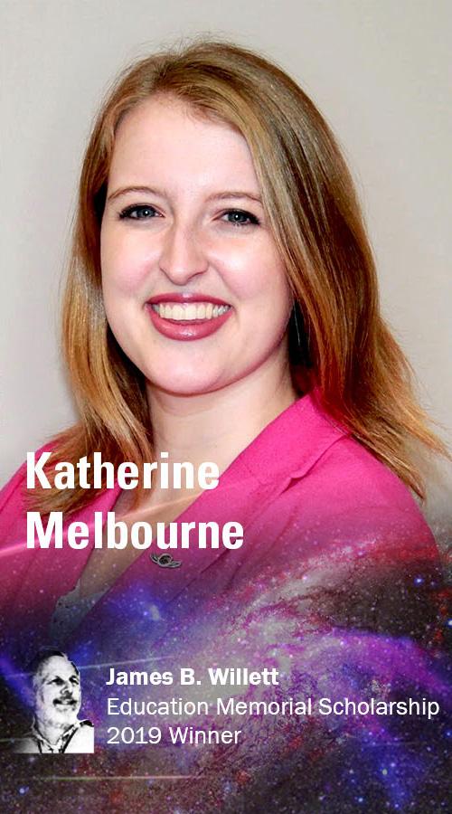 Katherine Melbourne, 2019 James B Willett Education Memorial Scholarship awardee