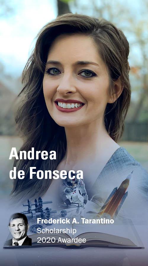 Andrea de Fonseca, 2020 Frederick A. Tarantino Scholarship awardee