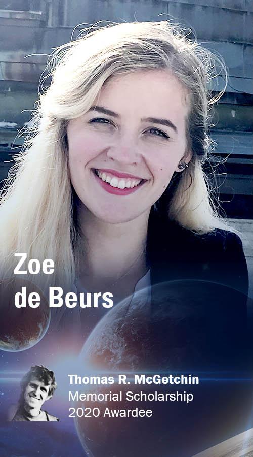 Zoe de Beurs, 2020 Thomas R. McGetchin Memorial Scholarship awardee