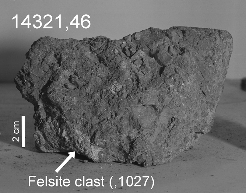Illustration 3. Rock fragment. Image credit: NASA