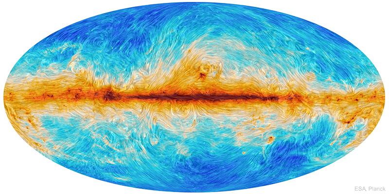 Magnetic Streamlines of the Milky Way Image Credit:ESA,Planck;Text:Joan Schmelz(USRA)
