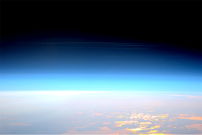 Noctilucent or night shining clouds forming in the mesosphere as seen from the International Space Station on May 29, 2016. These clouds form between 47 to 53 miles (76 to 85 kilometers) above Earth's surface, near the boundary of the mesosphere and thermosphere, a region known as the mesopause. SOFIA is making direct measurements of atomic oxygen in this region, solidifying some of the basic science of how solar energy is exchanged between the surface and space.Credit: ESA/NASA/ Tim Peake