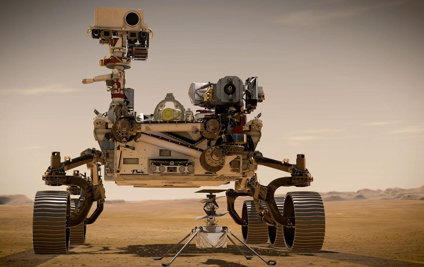 Artist's concept of the Mars rover Perseverance. Image credit: NASA/JPL-Caltech