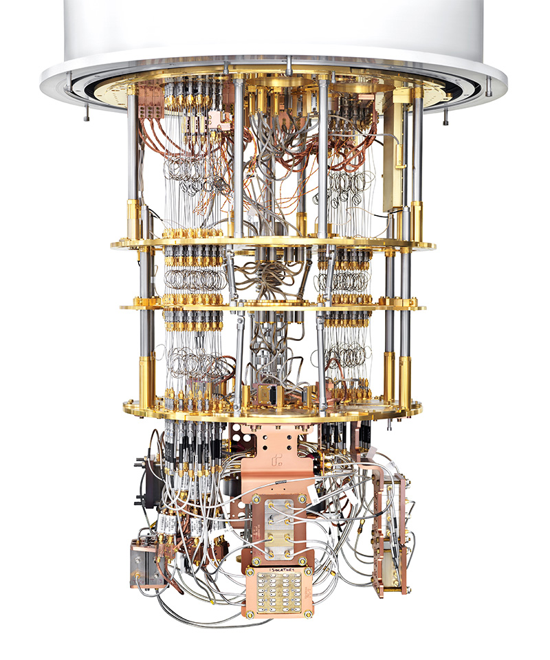A Rigetti Quantum Processing Unit (QPU) based on superconducting qubits. Image courtesy Rigetti Computing. Photo by Justin Fantl.