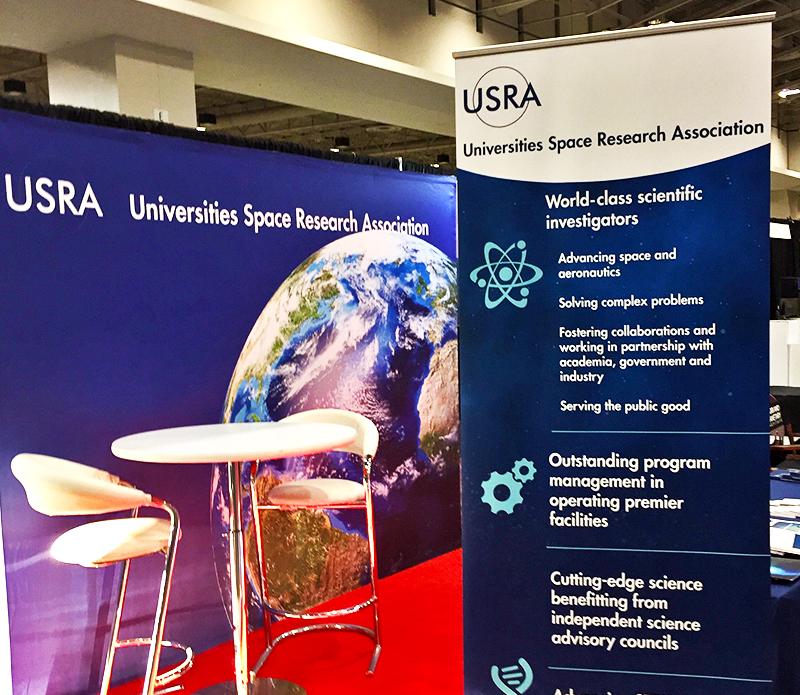 USRA booth at AGU