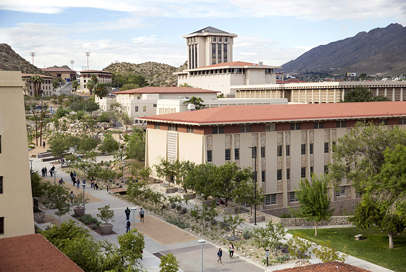 UTEP campus from the roof of the Physical Science Building, Wednesday, October 7, 2015, in El Paso, Texas. Photo by Ivan Pierre Aguirre/UTEP News Service