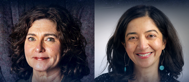 (left) Margaret Meixner, director of SOFIA Science Mission Operations at Universities Space Research Association (USRA); (right) Hina Kazmi, project manager based at NASA Ames Research Center in California's Silicon Valley