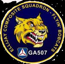 The patch representing Ellijay Composite Squadron.