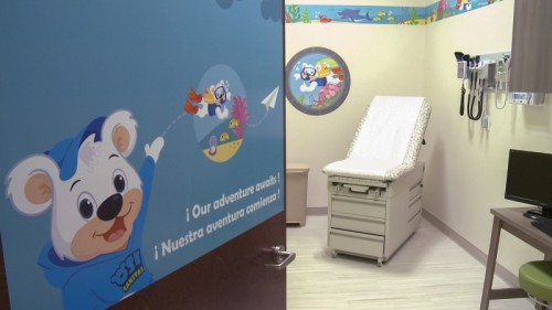 Inside a pediatric exam room at a Sanitas Medical Center, a one-stop solution to patients' everyday health needs.