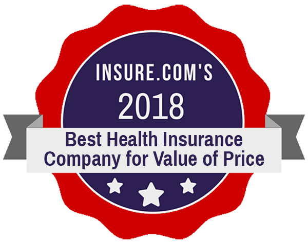 Insure.com seal, Best Health Insurance Company for Value of Price