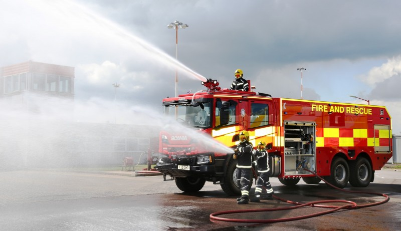 One of EMA's new fire engines