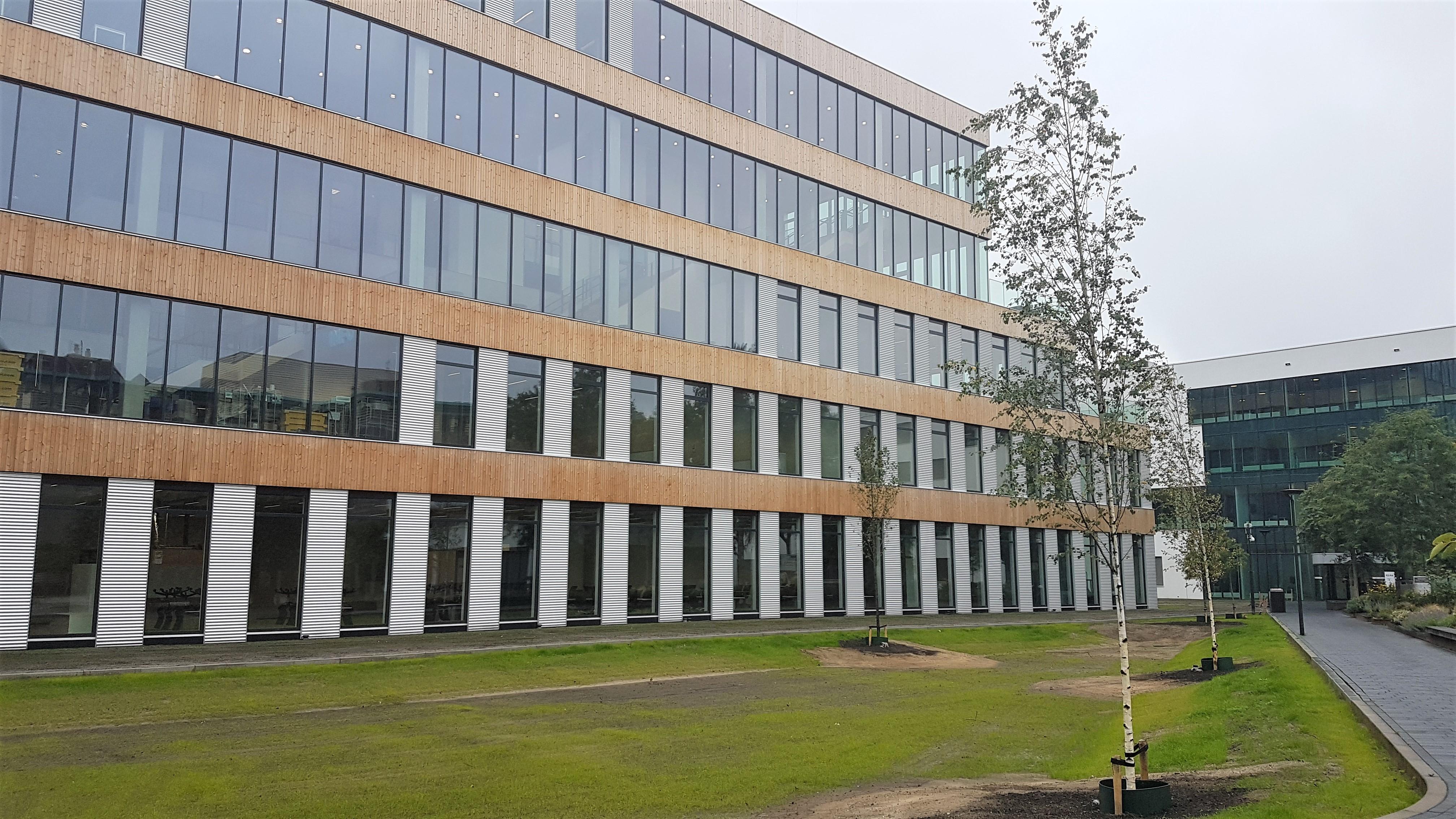 Het nieuwe gebouw op campus Rachelsmmolen.