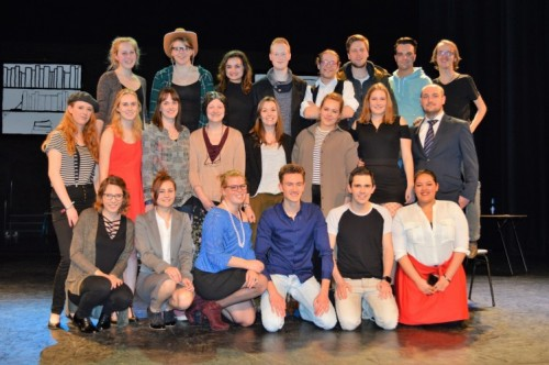 De cast van de musical in 2017.