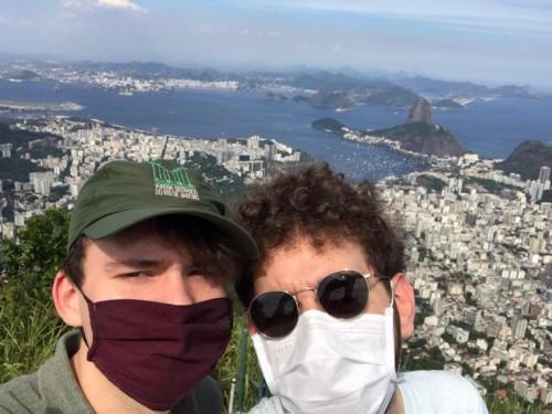Friso (links) en zijn vriend Stefano