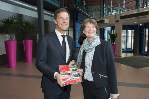 Met premier Mark Rutte in 2015.