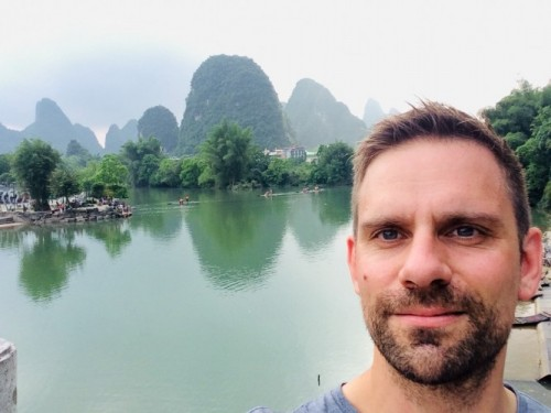 Serge Koster in Guilin.