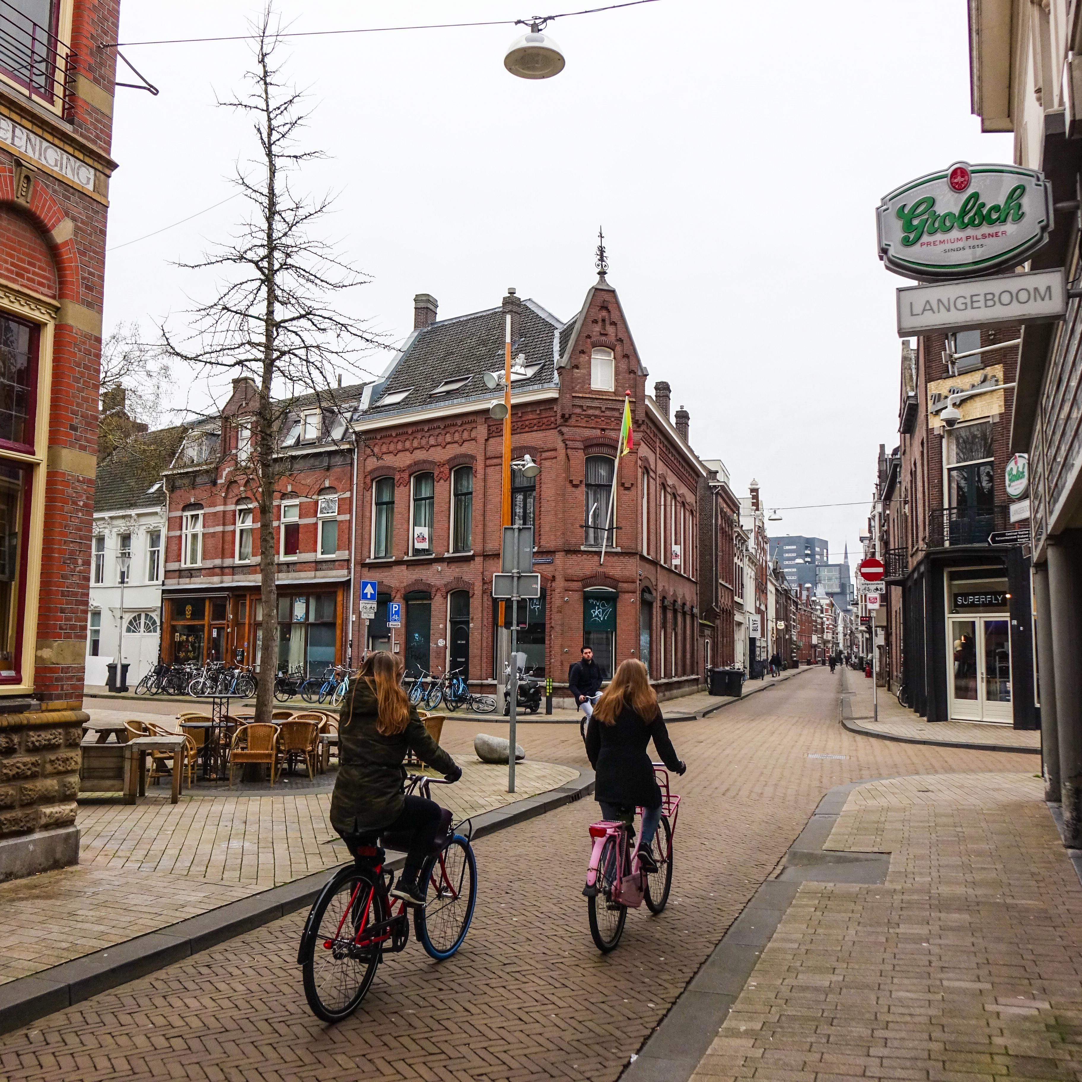 De 'vijfsprong' in centrum Tilburg.