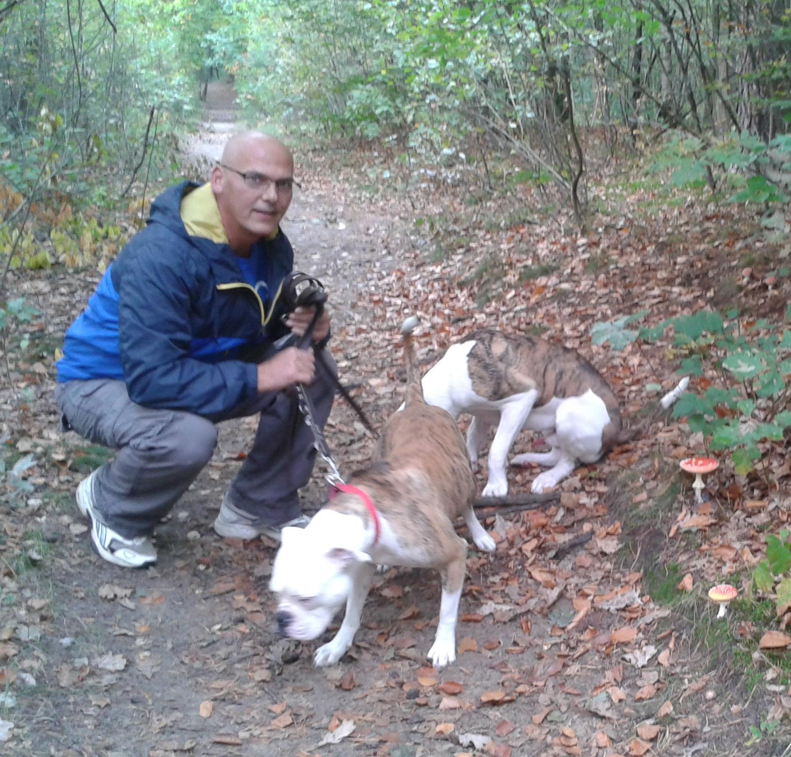 Fontys-beveiliger Peter Sevenich heeft nu meer tijd voor zijn honden.