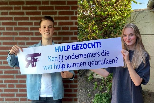 Studenten Ryan van Aerle en Suuz van Tilburg van ReFresh.