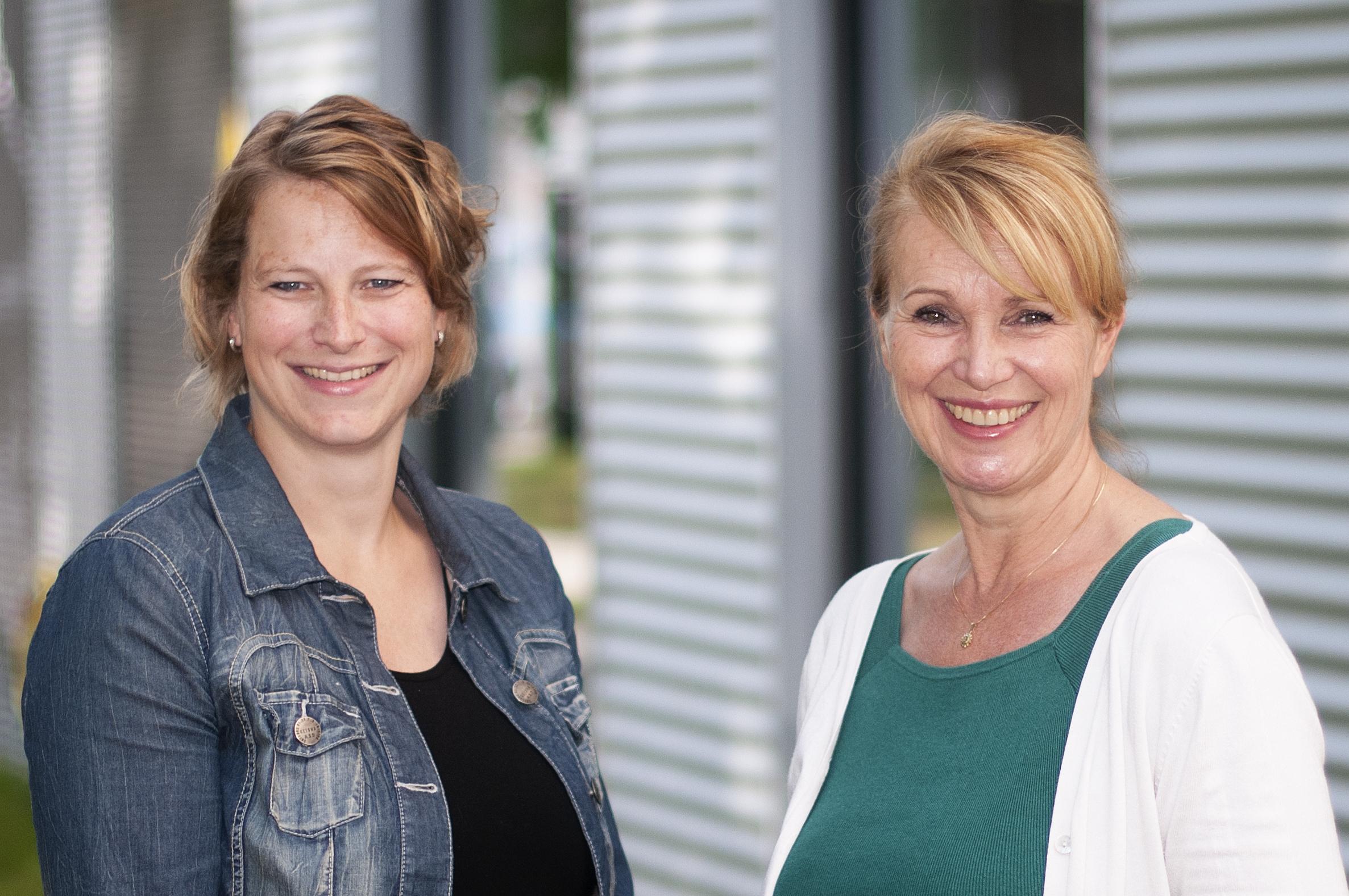 Initiatiefnemers Manon Krabbenborg (links) en Marlou Heskes