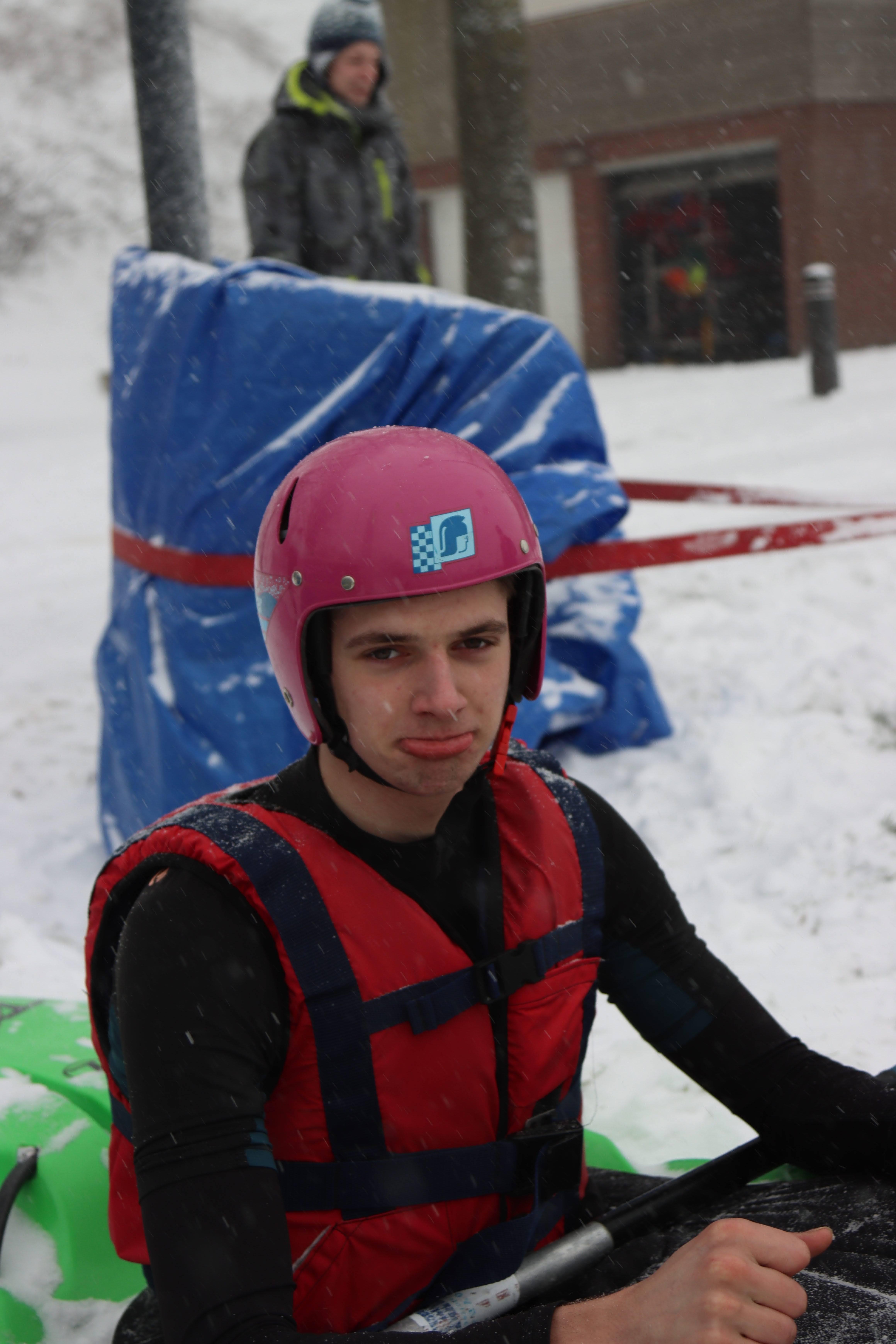 Niels Doensen, klaar voor de start.