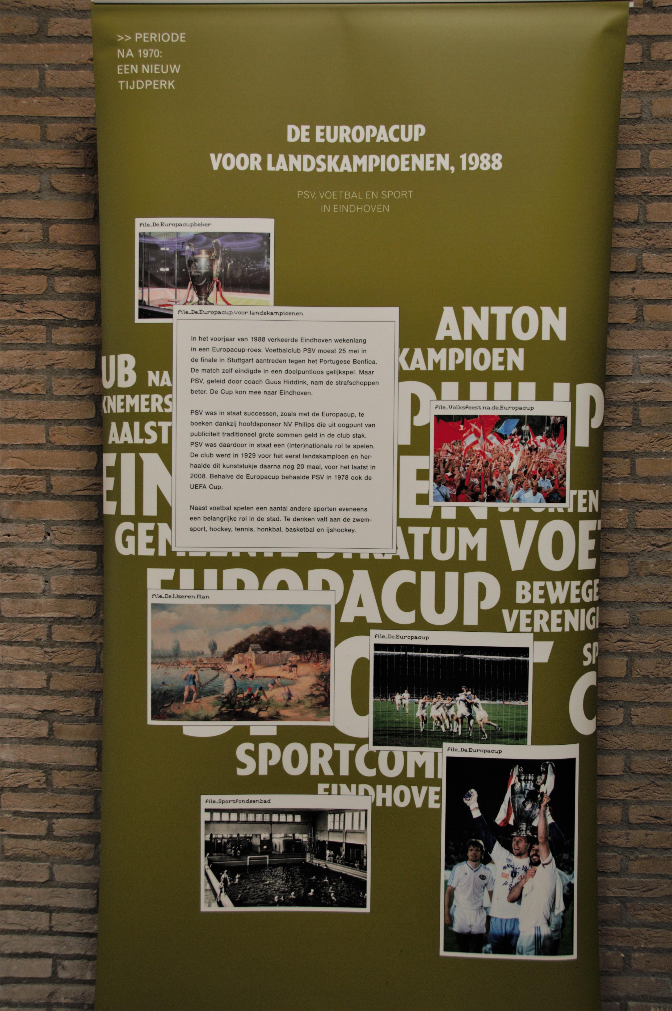 De banner in de Eindhovense canon van PSV.