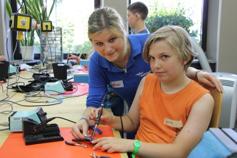 GirlsDay bei Westnetz in Neuss, April 2017