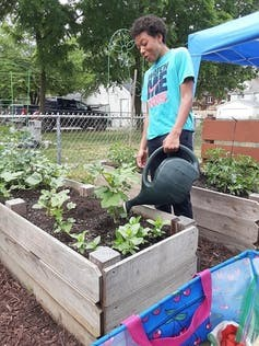 An Urban Gardening Entrepreneurs Motivating Sustainability participant. Deanna Wilkinson, CC BY