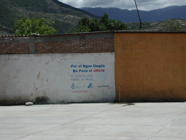 An anti-cholera campaign for clean drinking water in Oaxaca.