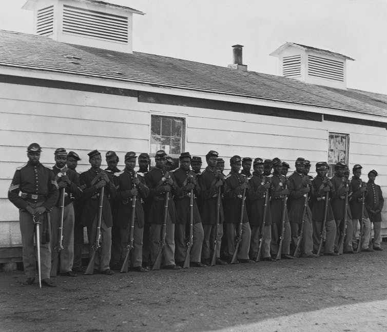 Company E was the fourth U.S. Colored Infantry during the Civil War