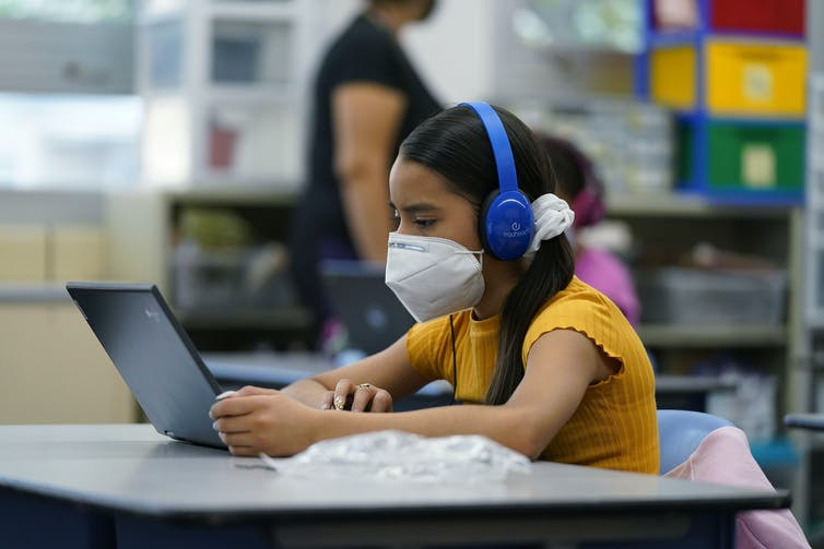 Some Denver K-12 students are remote-learning at public school sites, with staff support.