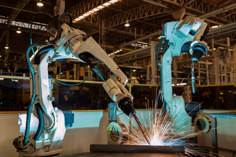 Robots already assemble and weld products in factories. Can they make the components parts themselves, too?