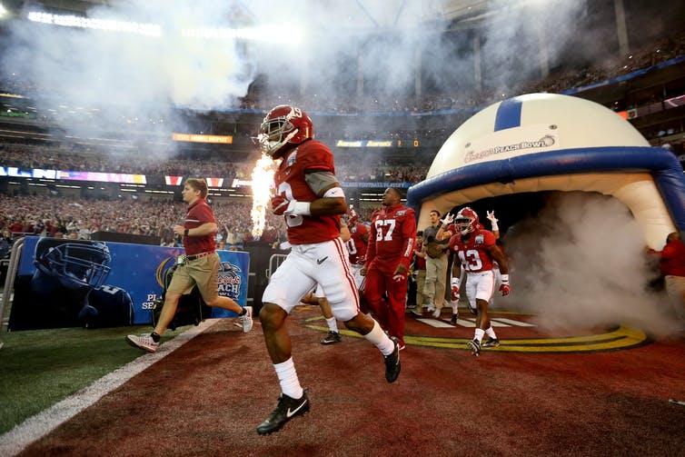 Teams like Alabama recruit top players.