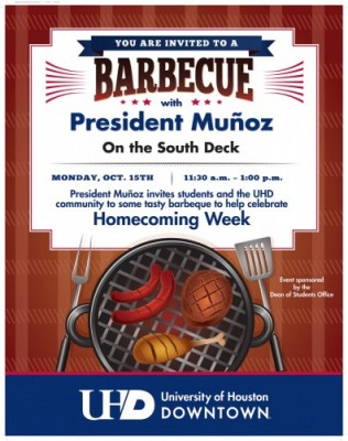 Homecoming BBQ Flyer