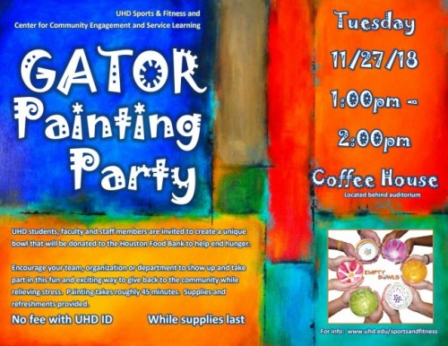 Gator Painting Party Workshop Nov 27