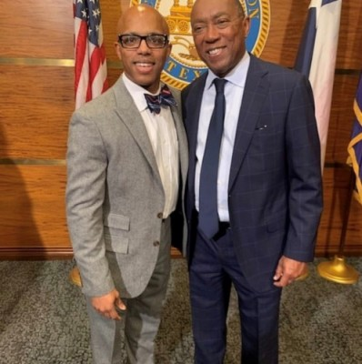 Lillie with Houston Mayor Sylvester Turner