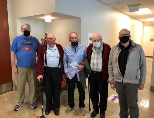 Basilian Fathers at San Jose Clinic for vaccine shots