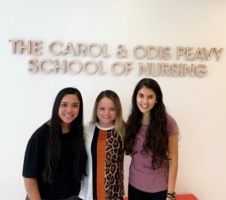 Cohort 2020, from left to right: Yoana Muniz, Bianca Chavez, Gissel Alvarez