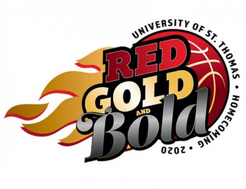 UST Homecoming Logo: Red Gold & Bold