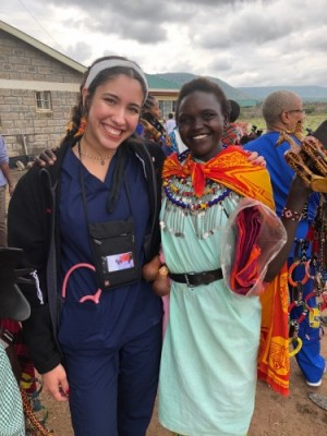 Jazmin Valdez Torres and Maasai woman