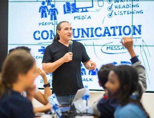 Dr. Cesare Wright teaching a technology class