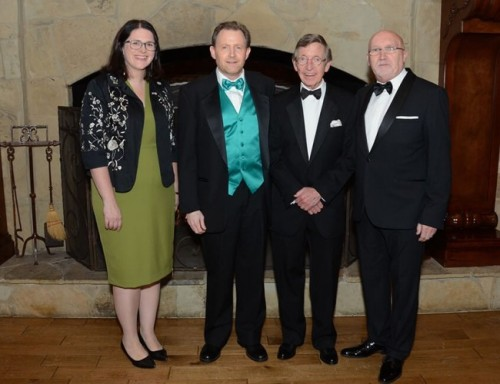 Consul General of Ireland Claire McCarthy, Dr. Patrick Herlihy, Honorary Consul General of Ireland John B. Kane, and Rev. Bill Shaw, Director of the 174 Trust in Belfast