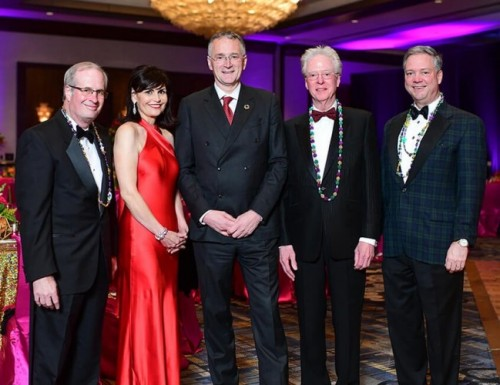 Gala Chairs and Honoree: Ed Tyrrell, Denise Castillo-Rhodes, Dr. Mauro Ferrari, Dr. Bert Edmundson, Bob Corrigan