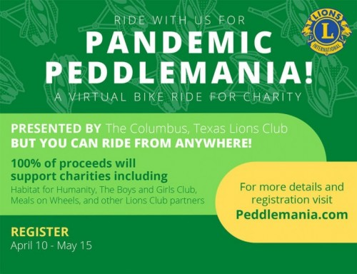 Pandemic Peddlemania Event flyer