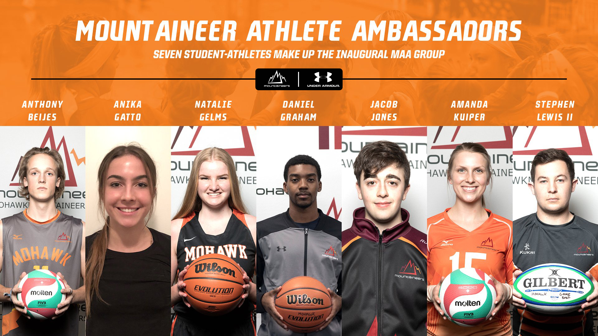 team members of the Mountaineer Athlete Ambassadors