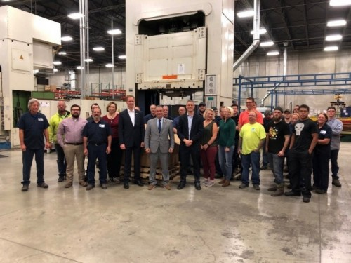 Rep. Don Bacon visits Graepel North America, a perforated steel product manufacturer in Omaha, Nebraska.